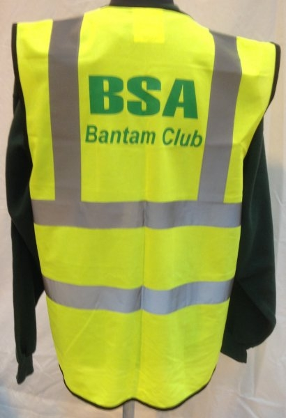 BSA Bantam Club Hi-Viz Vest Back View