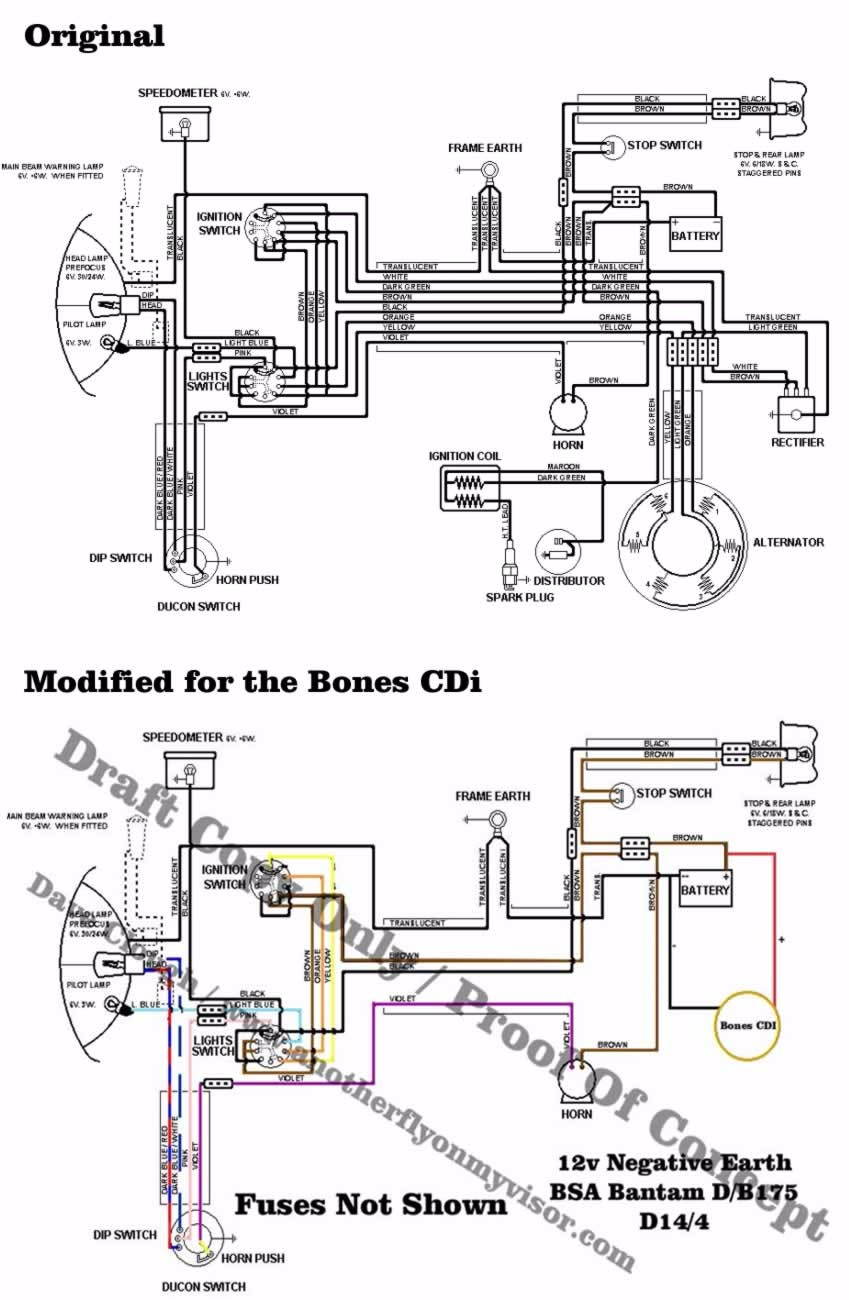 Bantam D7 Wiring Diagram 24 Images Bsa A10 Comparason Loom For Bones Cdi D10 D14 And B175 Models Forum